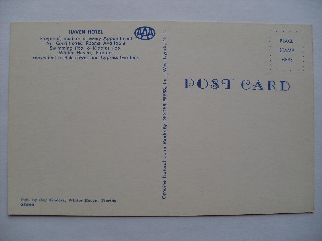playle u0027s 1970 u0027s haven hotel winter haven florida fl postcard