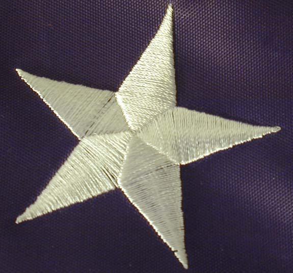 U S Nylon US Flag ft Embroidered Stars