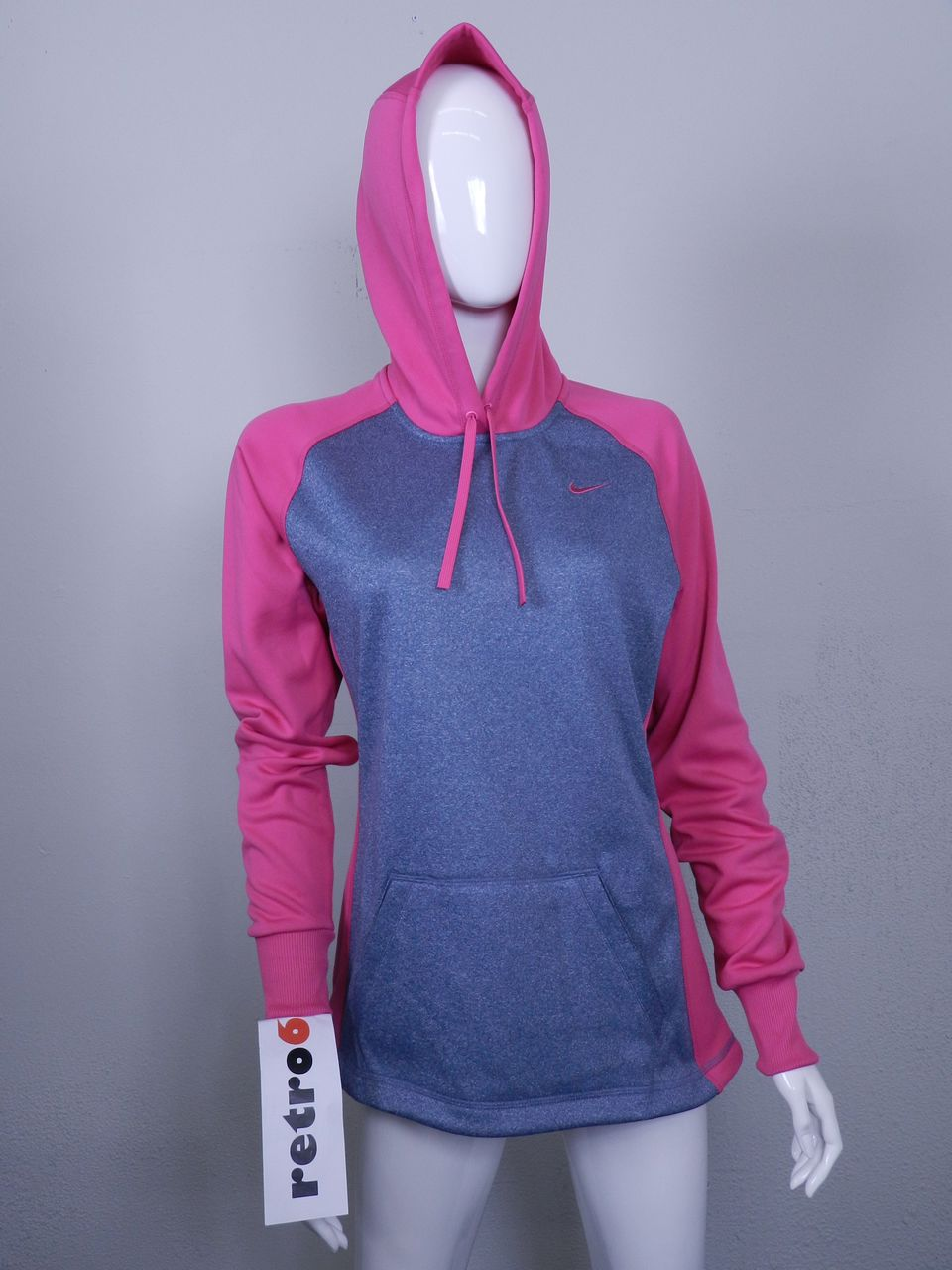 nike scoop therma fit hoodie new womens pink hoody pullover 424162 497 ebay. Black Bedroom Furniture Sets. Home Design Ideas
