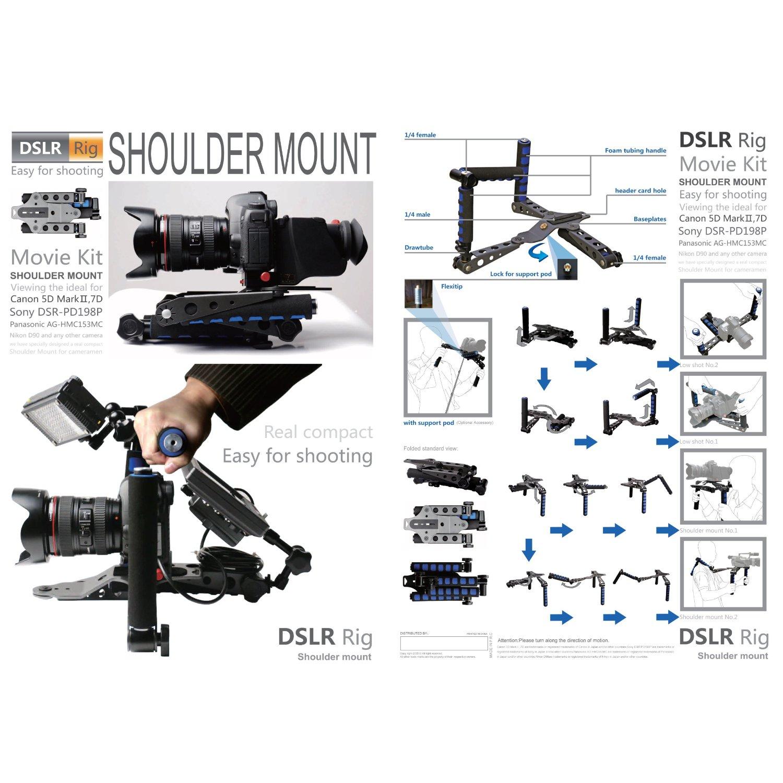 Camera Camera Dslr Rig dslr foldable rig movie kit shoulder mount spider steady for one 1 adjustable camera hex wrench