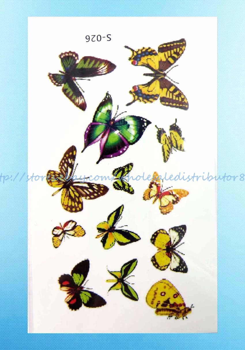 Us seller 12 sheets wholesale lot temporary tattoo for Wholesale temporary tattoos