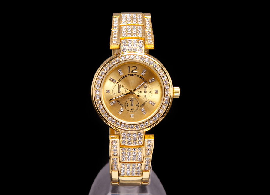TOP-SALE-White-Rose-Gold-New-Crystal-Dial-2014-Gift-WOMEN-MEN-Quartz-Wrist-Watch