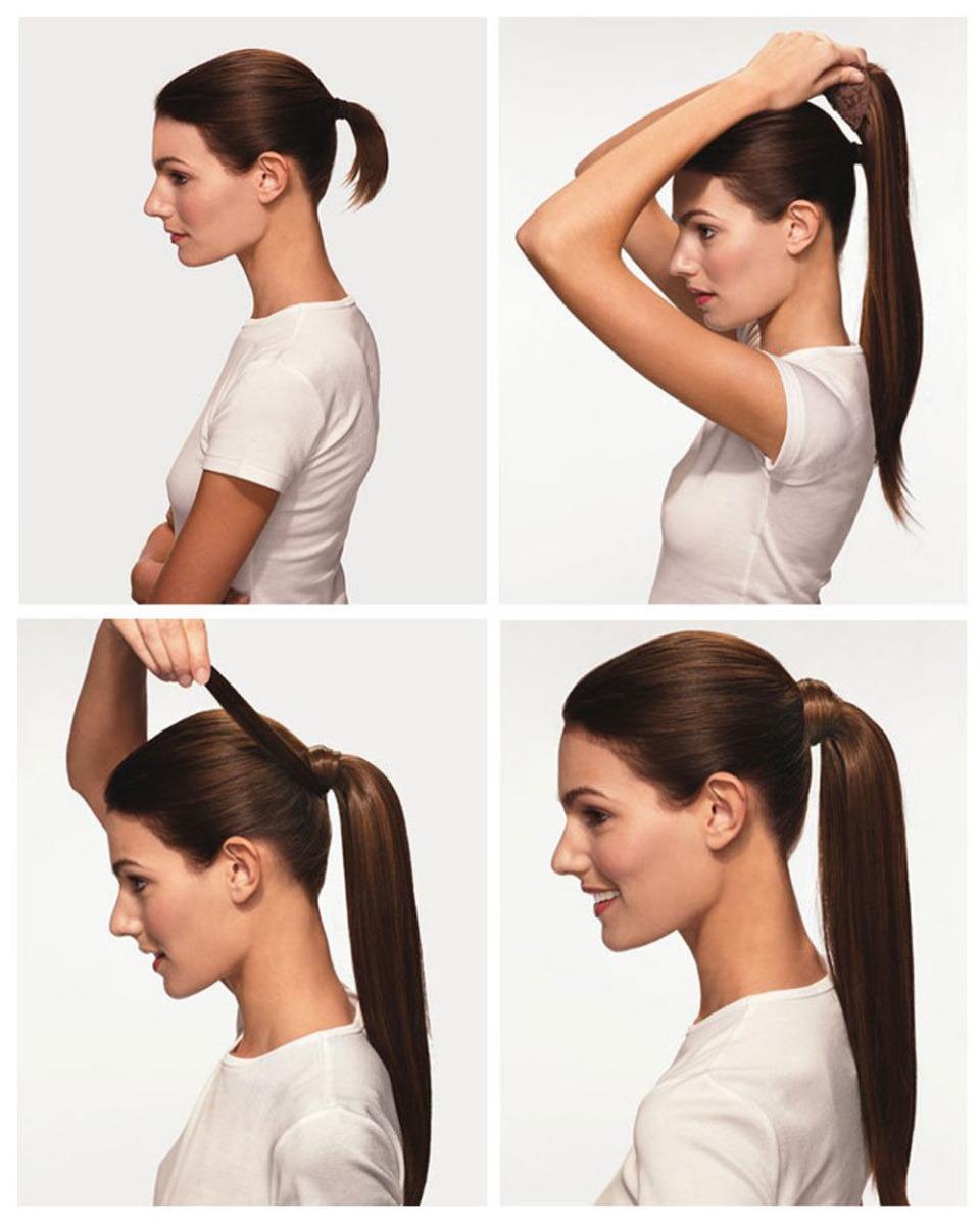 Как красиво сделать хвост на жидкие волосы