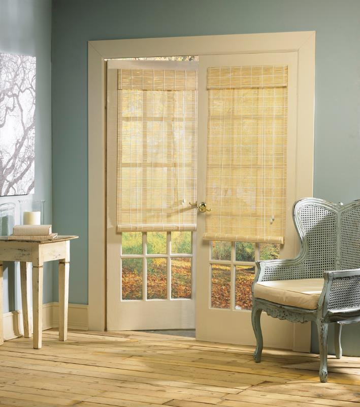 French Door Natural Woven Wood Matchstick Bamboo Roll Up Interior Window Shade Ebay