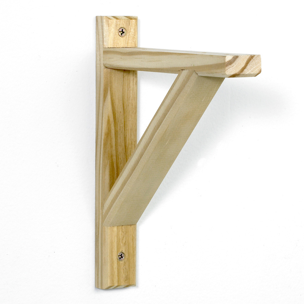 potomac natural unfinished wood shelf bracket x 3 or 9 qu