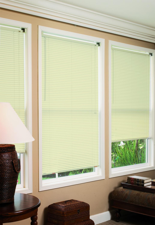 new ivory vinyl mini window blinds 70 w x 64 l ebay. Black Bedroom Furniture Sets. Home Design Ideas