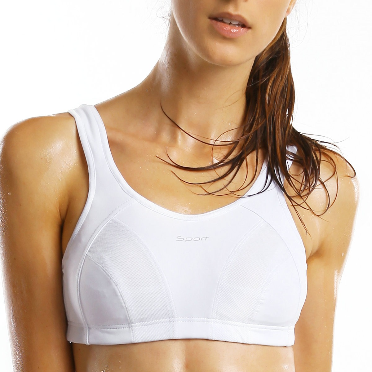 La-Isla-Womens-High-Impact-Wire-Free-Non-Padded-Racerback-Maximum-Sports-Bra