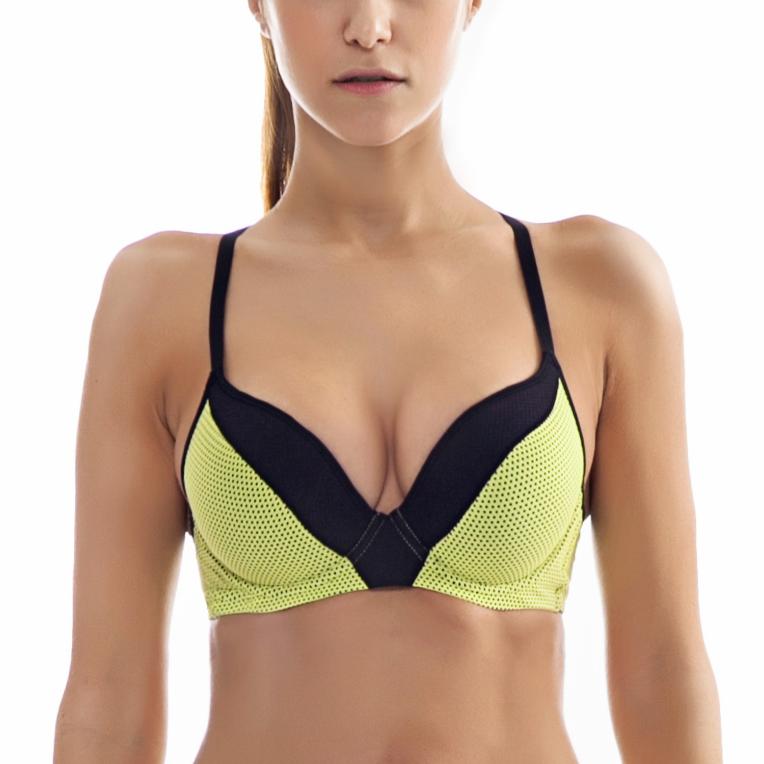 La Isla New Push Up Underwire Padded Racerback Fashion Comfort Sports Bra