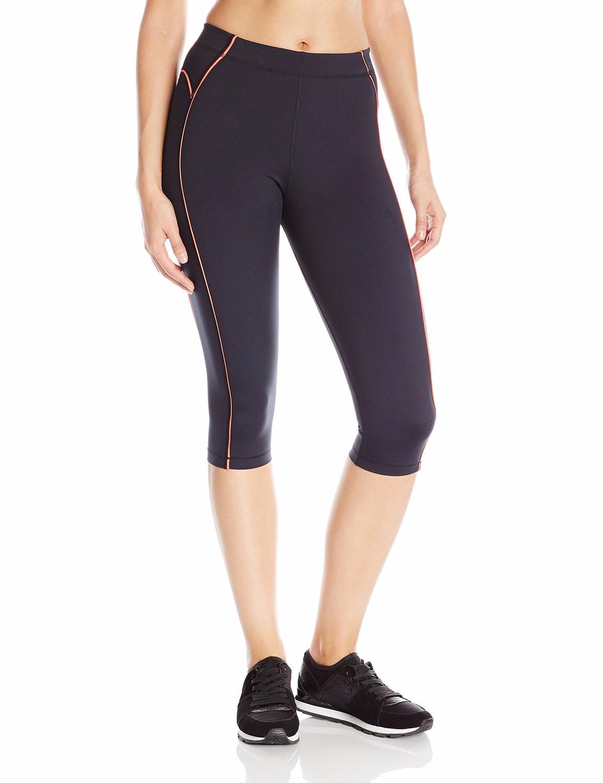 Women's Knee Tight Yoga Running Workout Sports Capri ...