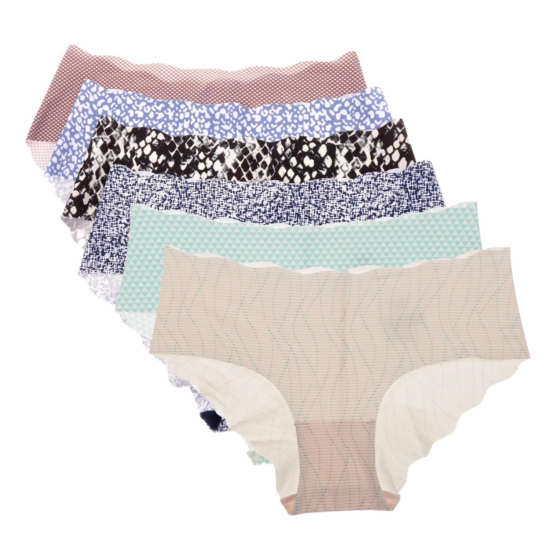 Women-039-s-6-Pairs-Panties-Low-Rise-Seemless-Soft-Cool-Hipster-Bikini