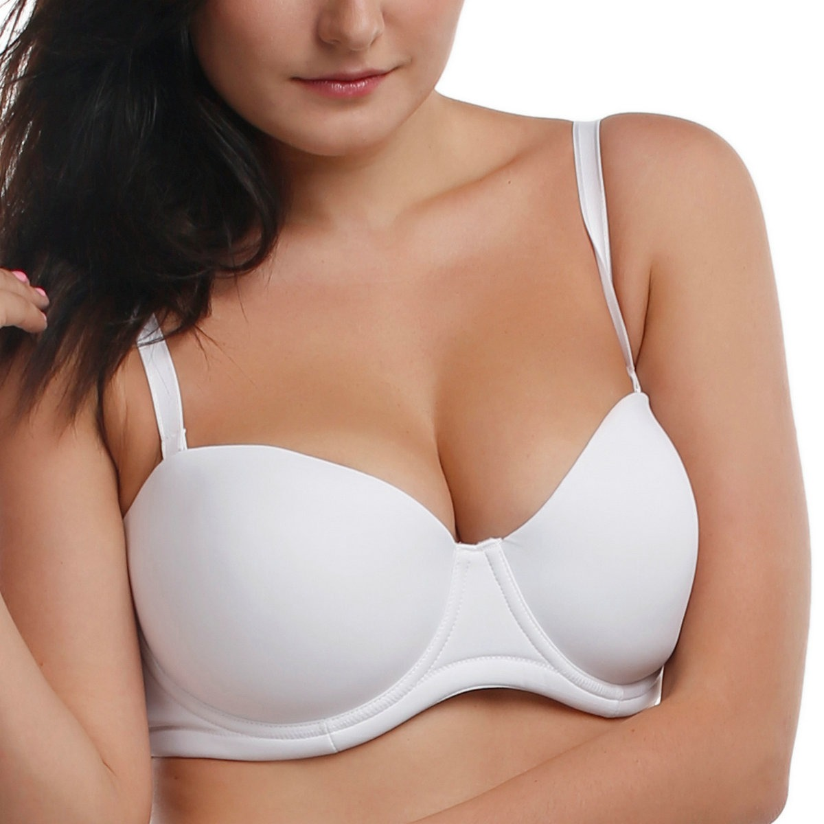 La-Isla-Womens-Smooth-Demi-Underwire-Multiway-Convertible-Strapless-Bra