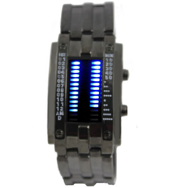 Fashion-28-Blue-LED-Binary-Digital-Metal-MENS-LADY-Sposts-Date-Watch-New