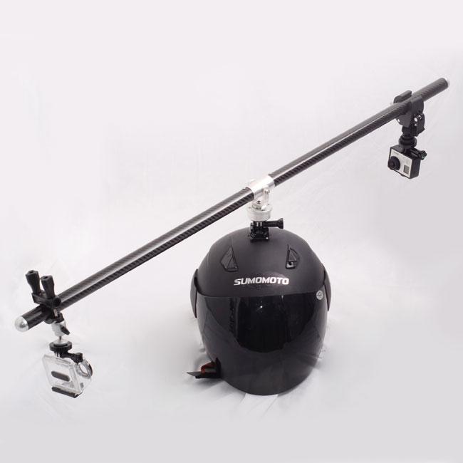 new gopro 2 3 helmet 360 swivel rotating mount selfshot arm assistance bike s. Black Bedroom Furniture Sets. Home Design Ideas