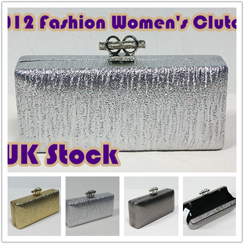 New women hardcase purse wallet clutch party evening bag