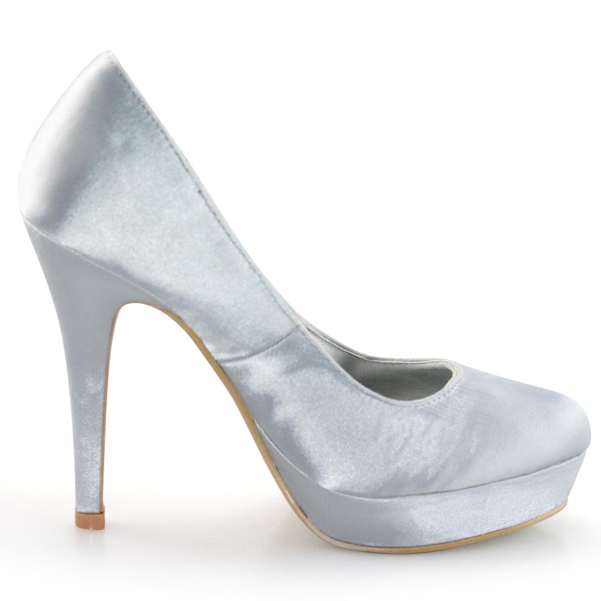 SHOEZY-Womens-Silver-Diamante-Platform-Wedding-Prom-Dress-High-Heels