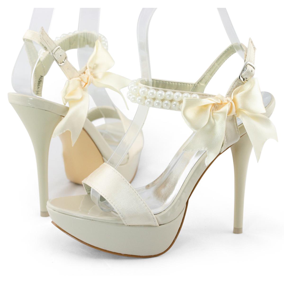 shoezy womens satin peep toes wedding evening dress high