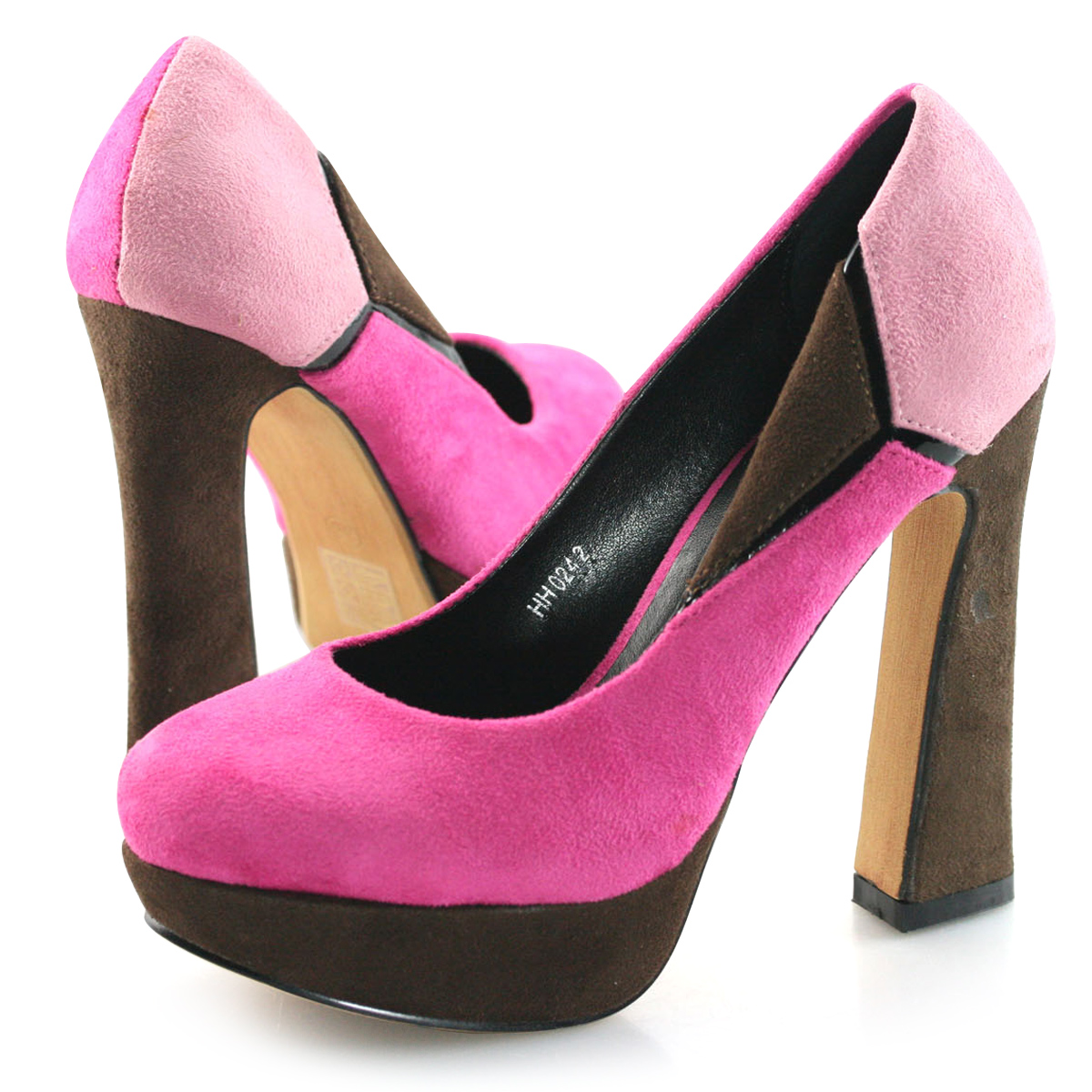womens fuchsia pink high heels platform pumps party dress shoes size 3 8 new ebay. Black Bedroom Furniture Sets. Home Design Ideas