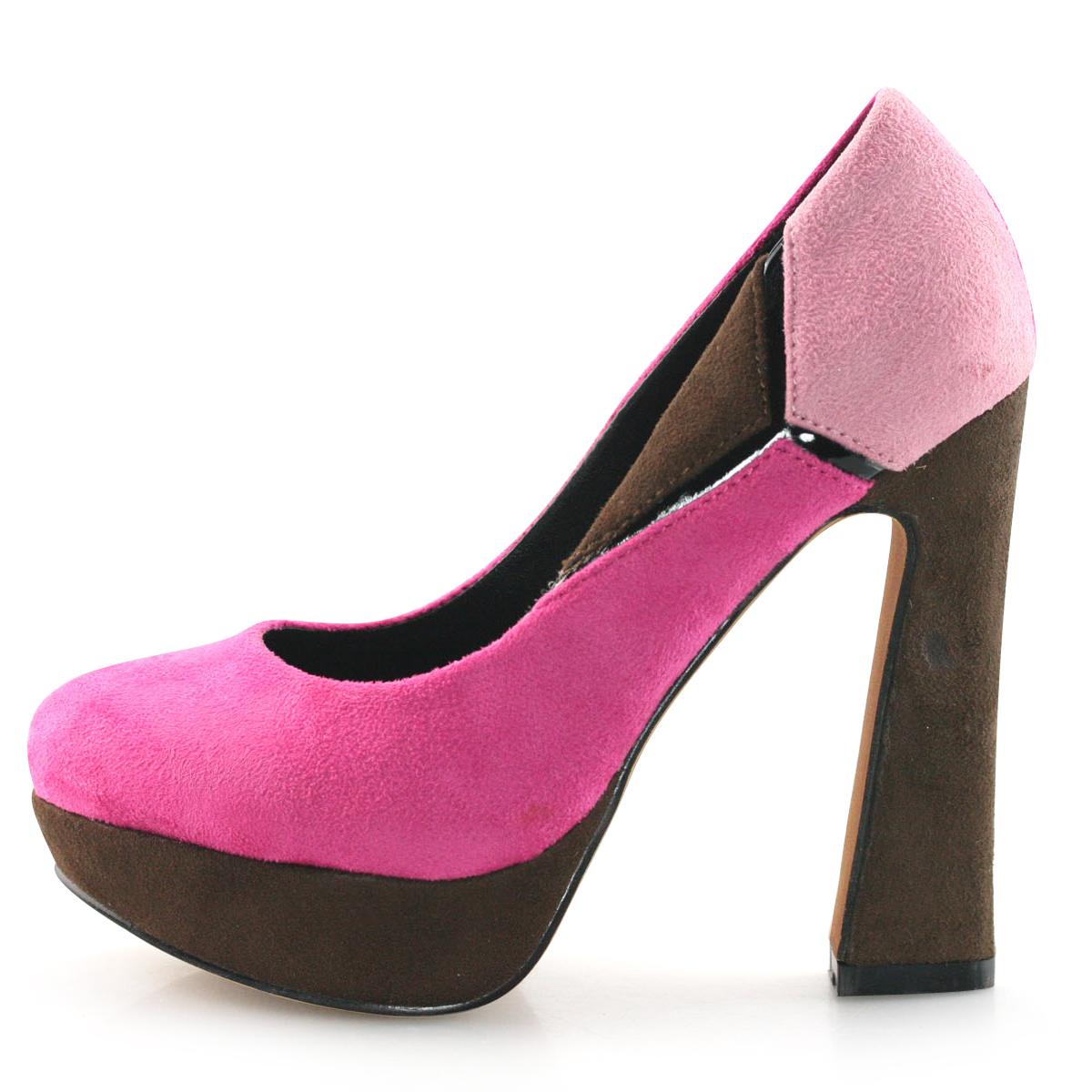 womens fuchsia pink high heels platform pumps