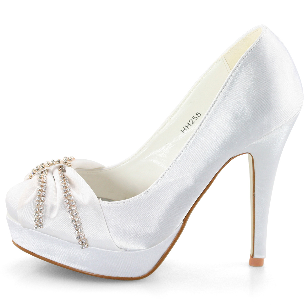new high heels wedding evening bridal white