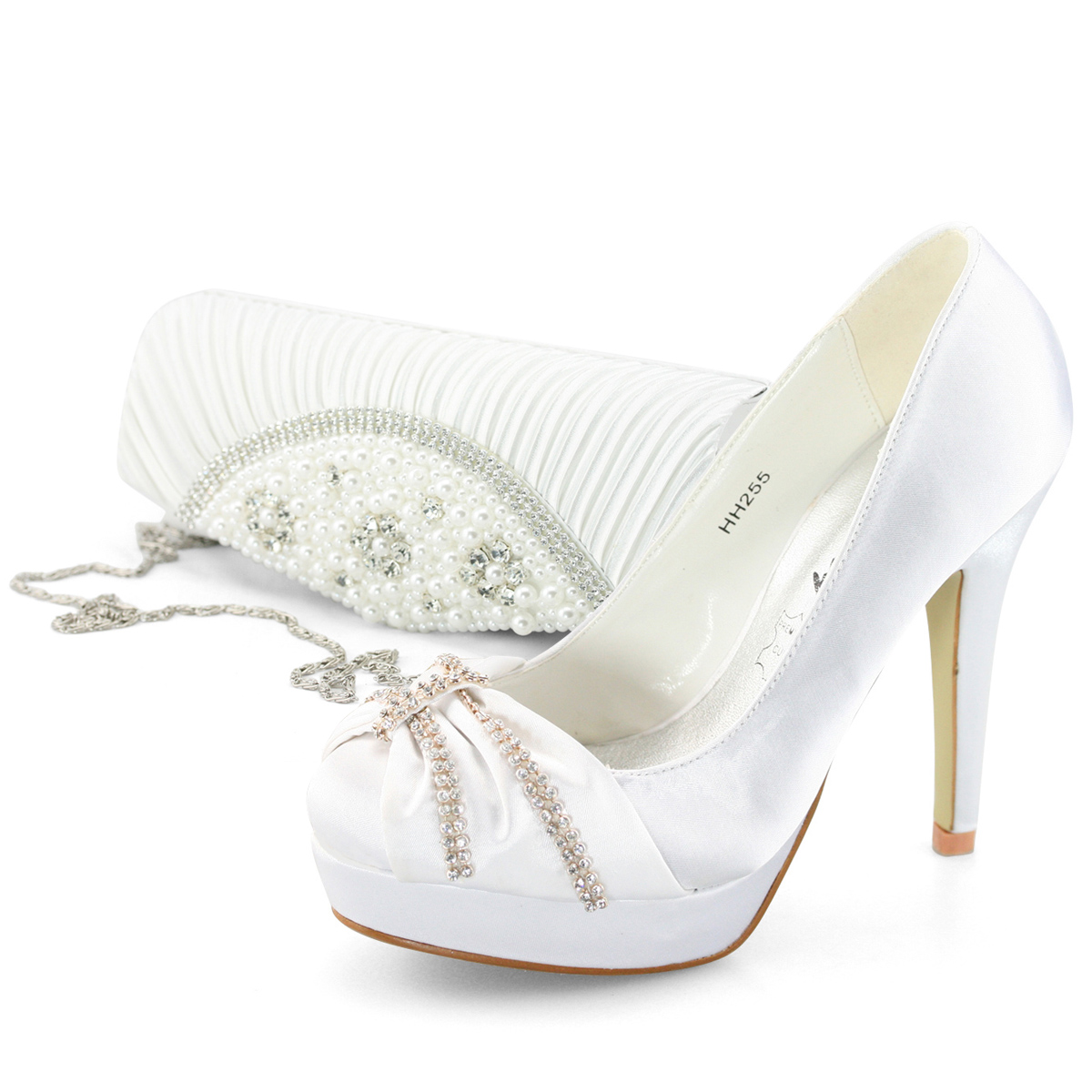 Beautiful White 5'' High Heel 1 2/5'' Platform Hollow Out