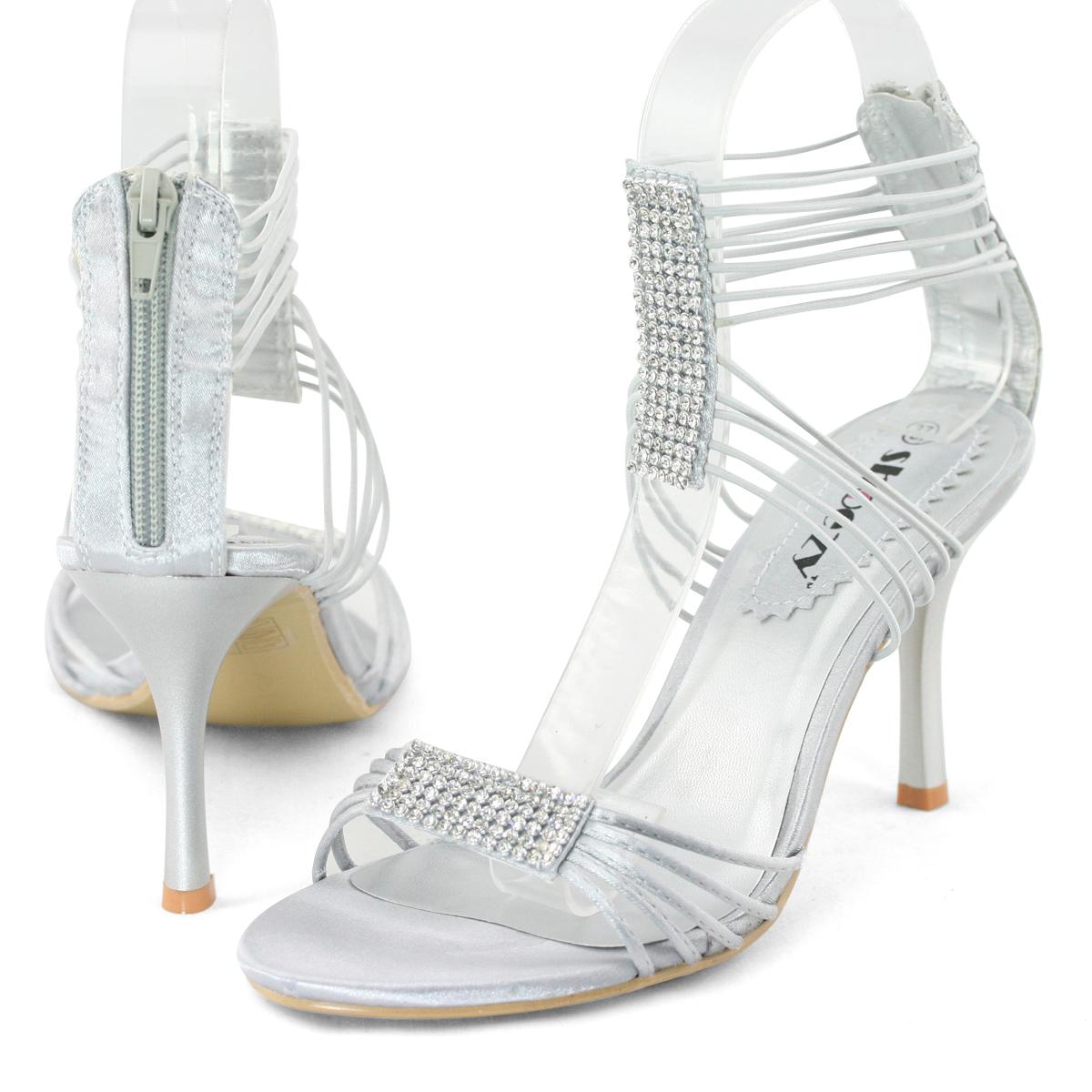 SHOEZY-Womens-Silver-Diamante-Platform-Pumps-Evening-Prom-Dress-High