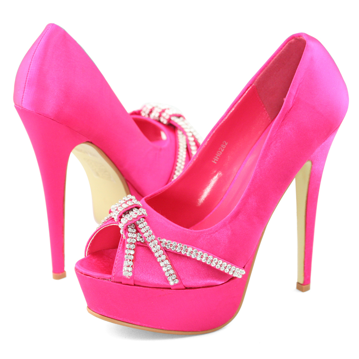 Fuschia Pink Heels Wedding - Is Heel