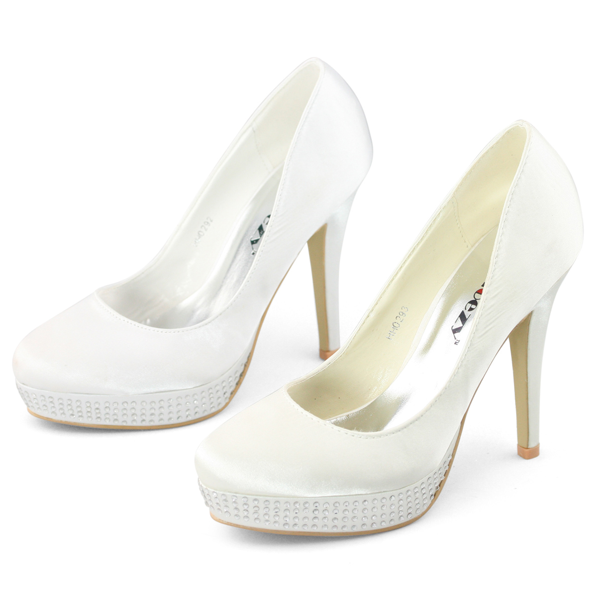 SHOEZY-Womens-Ivory-Satin-Platform-Diamante-Wedding-Dress-High-Heels