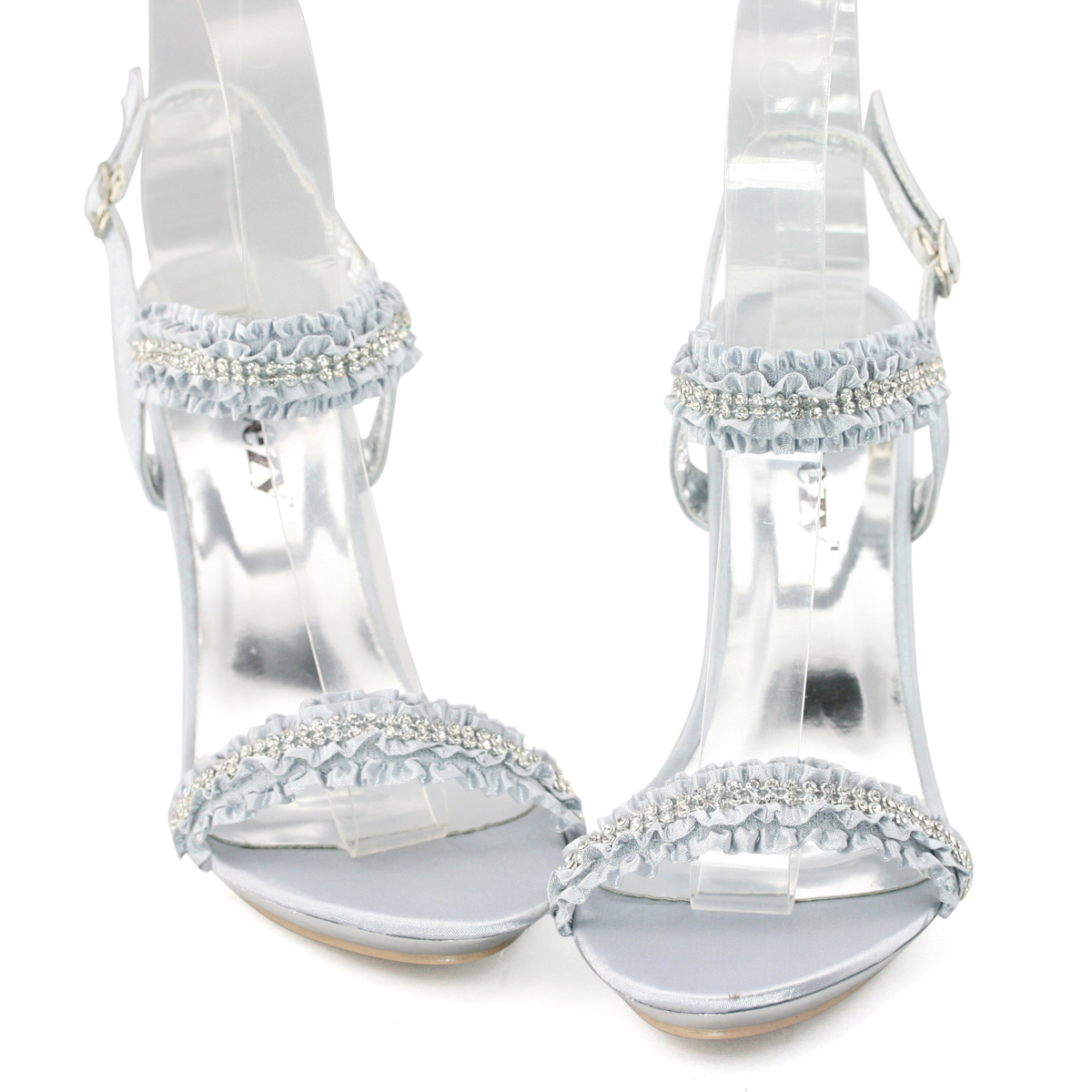 Silver sandals or shoes - Ladies Silver Diamond Ruffle Sandals Evening Shoes Amp Satin Designer Tote