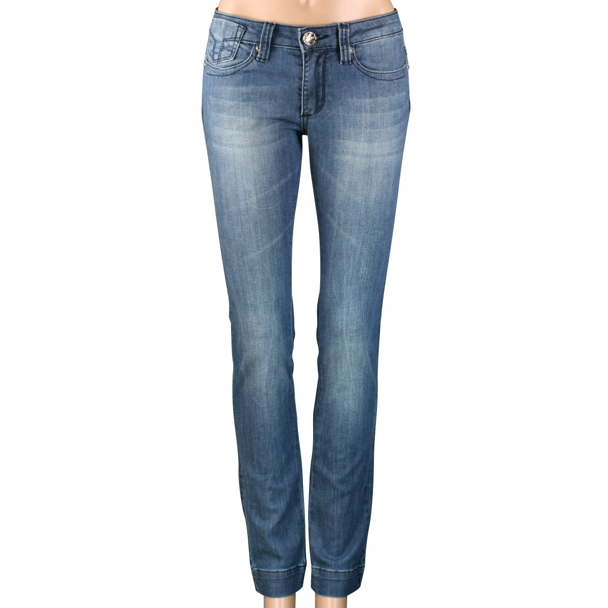SHOEZY-womens-Slim-Fit-Skinny-Straight-Blue-Denim-pants-Stretch-Zip-Jeans-AU