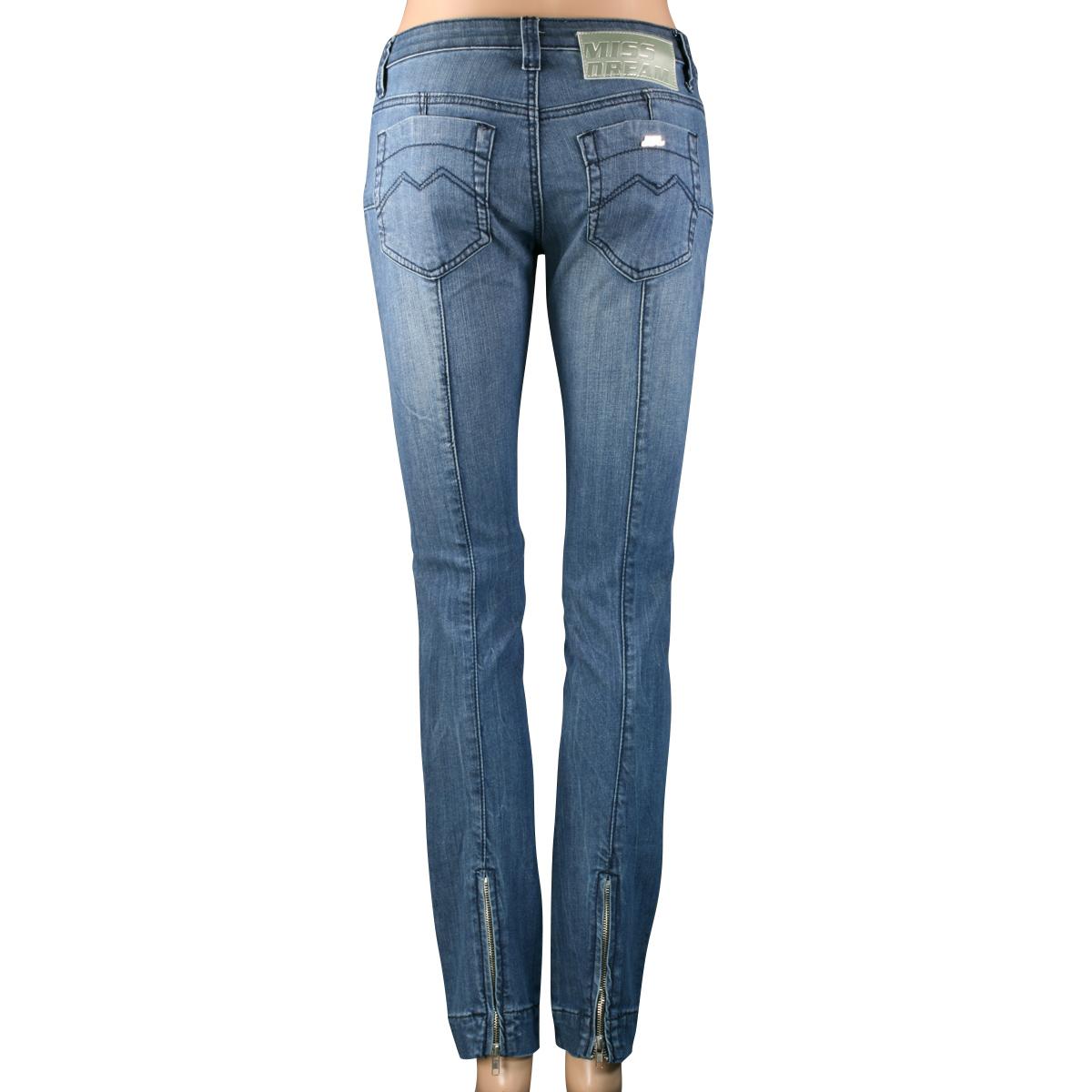 SHOEZY-womens-Slim-Fit-Skinny-Straight-Blue-Denim-pants-Stretch-Zip-Jeans-AU
