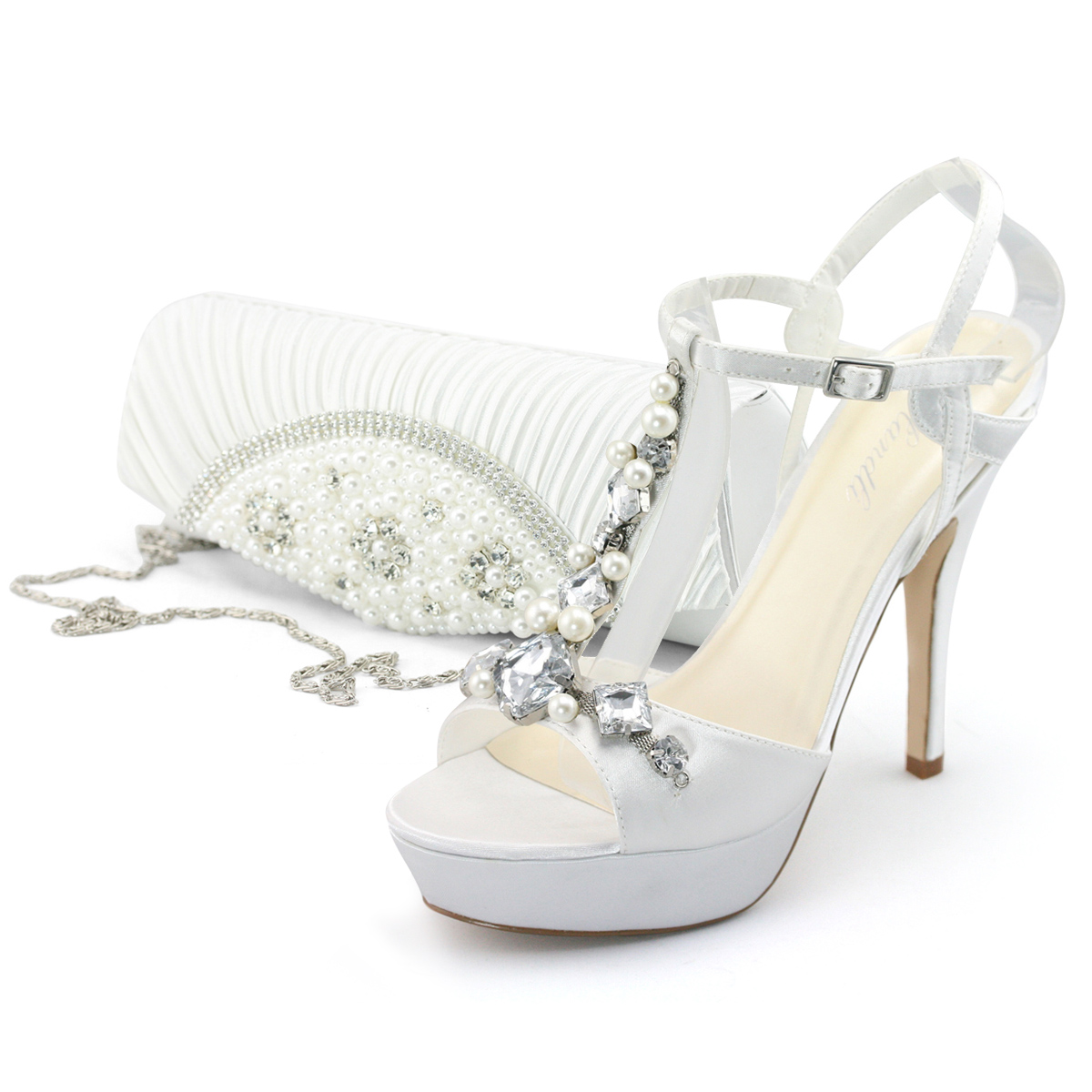 SHOEZY Womens Red Diamante Platform Wedding Bridesmaid Evening Dress Heels Shoes