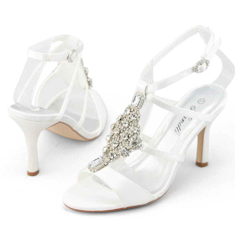 SHOEZY-Womens-Luxury-Rhinestone-Wedding-Party-Dress-Ankle-Strap-High-Heels-Shoes