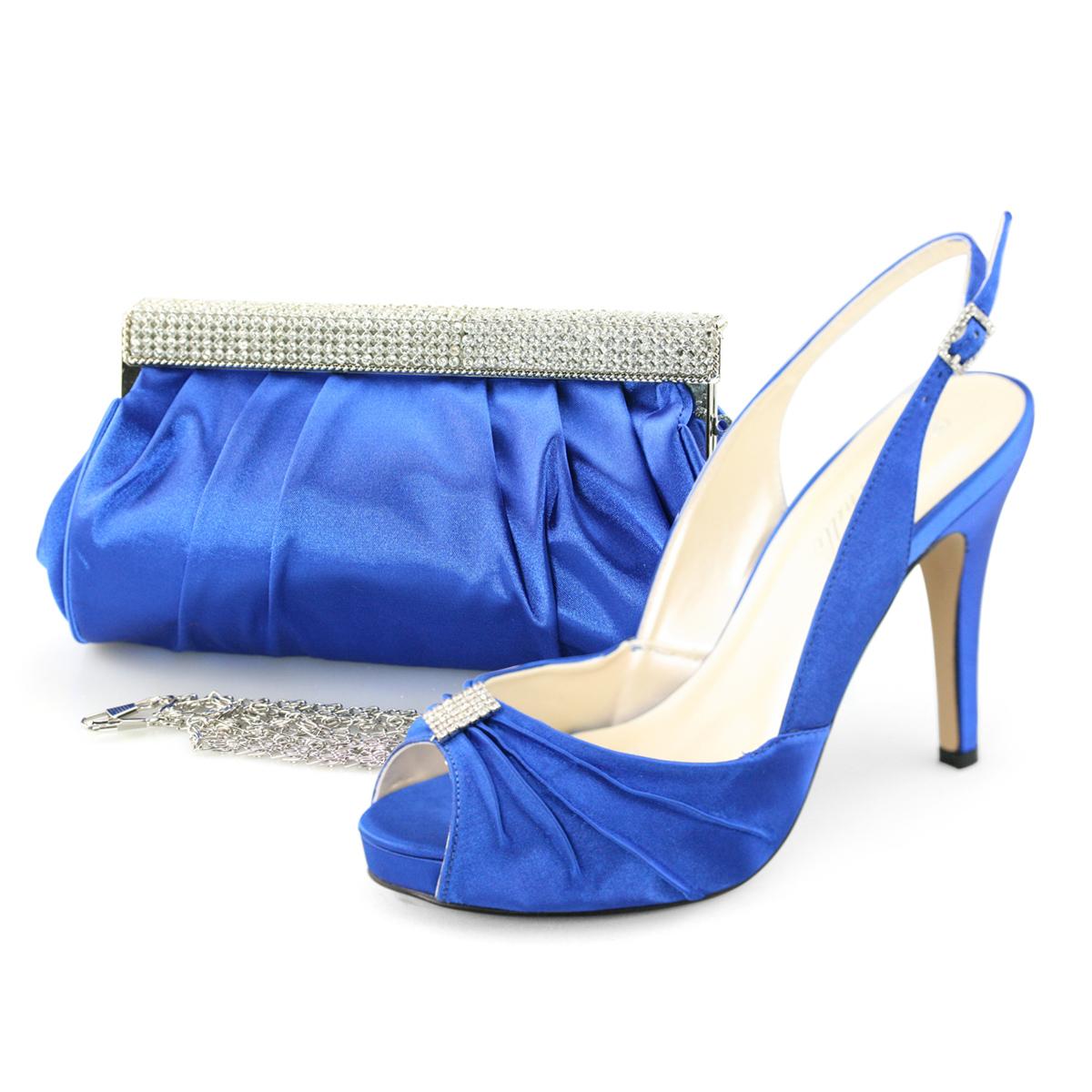 shoezy womens blue satin rhinestone evening prom dress