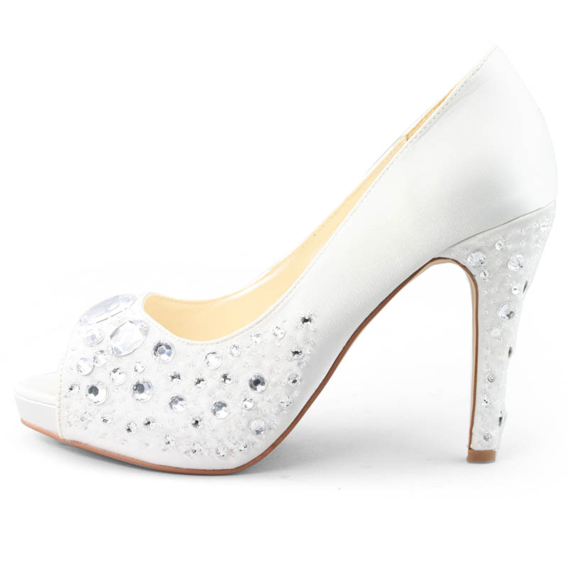 SHOEZY-Womens-White-Satin-Crystal-Wedding-Party-Dress-High-Heels-Sandals-Shoes