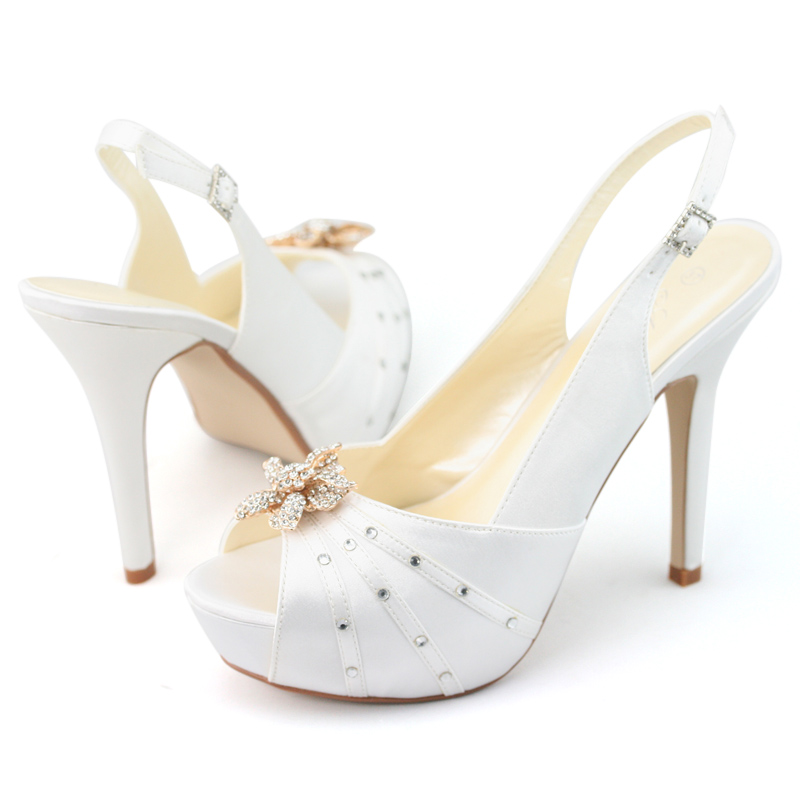womens diamond wedding evening dress slingback high heels shoes