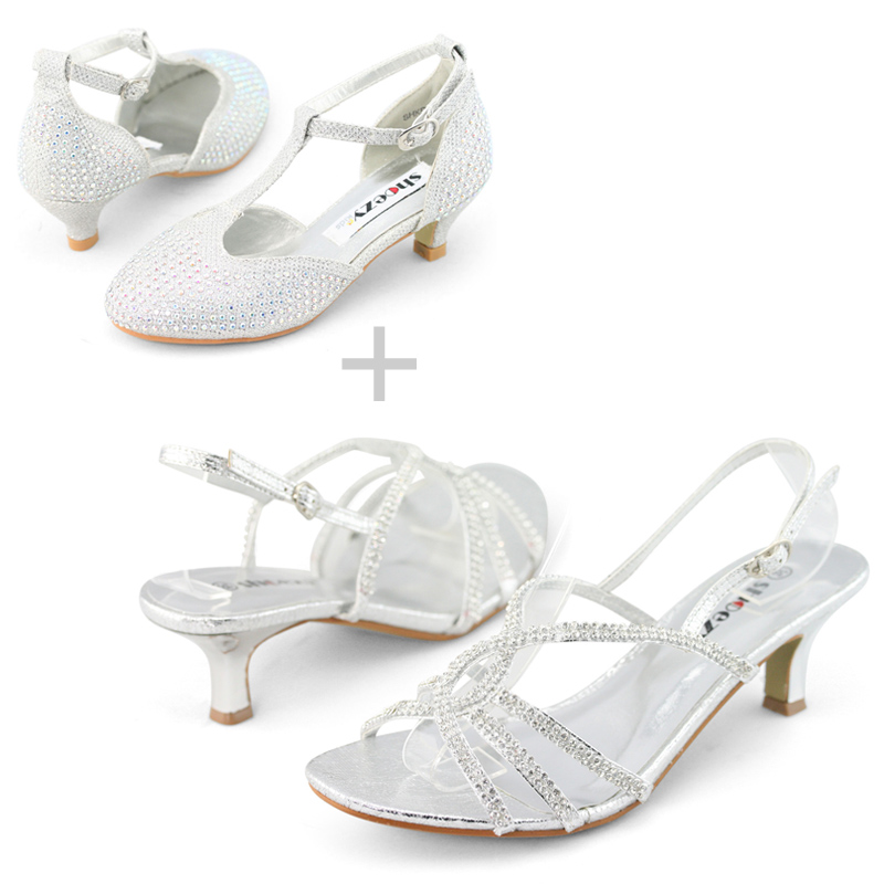 Details about SHOEZY womens Strappy Low heels sandals matching girls