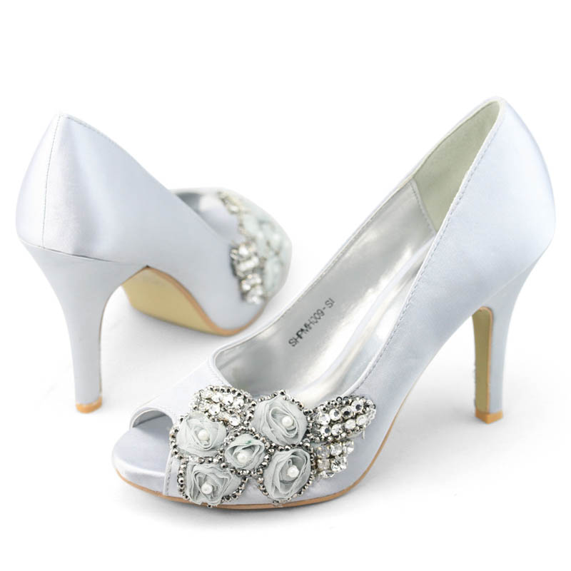 SHOEZY-women-silver-crystals-rose-brides-peep-toe-high-heel-platform-shoes-AU-10