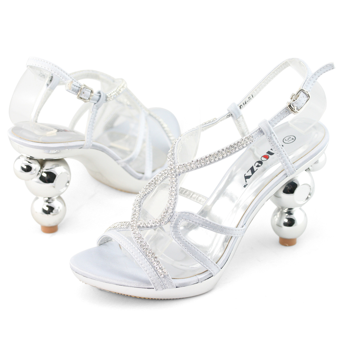 SHOEZY-Cheap-Womens-Silver-Diamond-Platform-Pumps-Block-High-Heels-Sandals-Shoes
