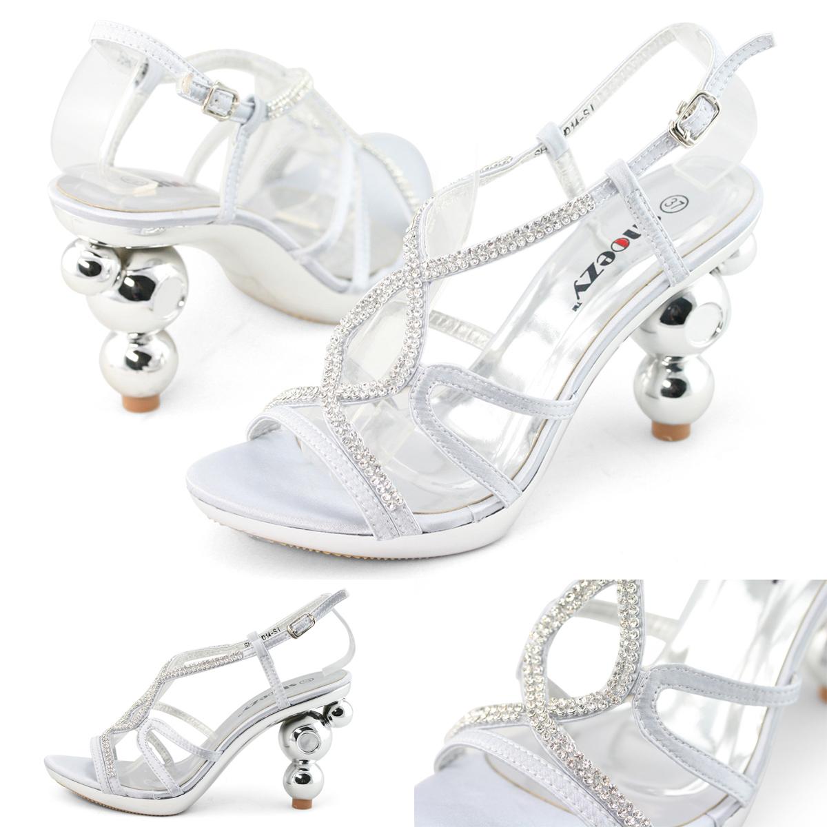 SHOEZY-Cheap-Womens-Silver-Diamond-Platform-Pumps-Block-High-Heels-Sandals-Shoes