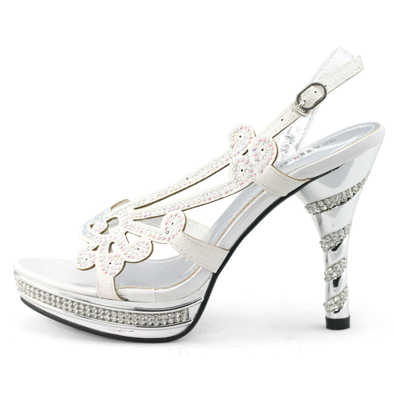 Details about womens white wedding shoes hollow dress heels slingback
