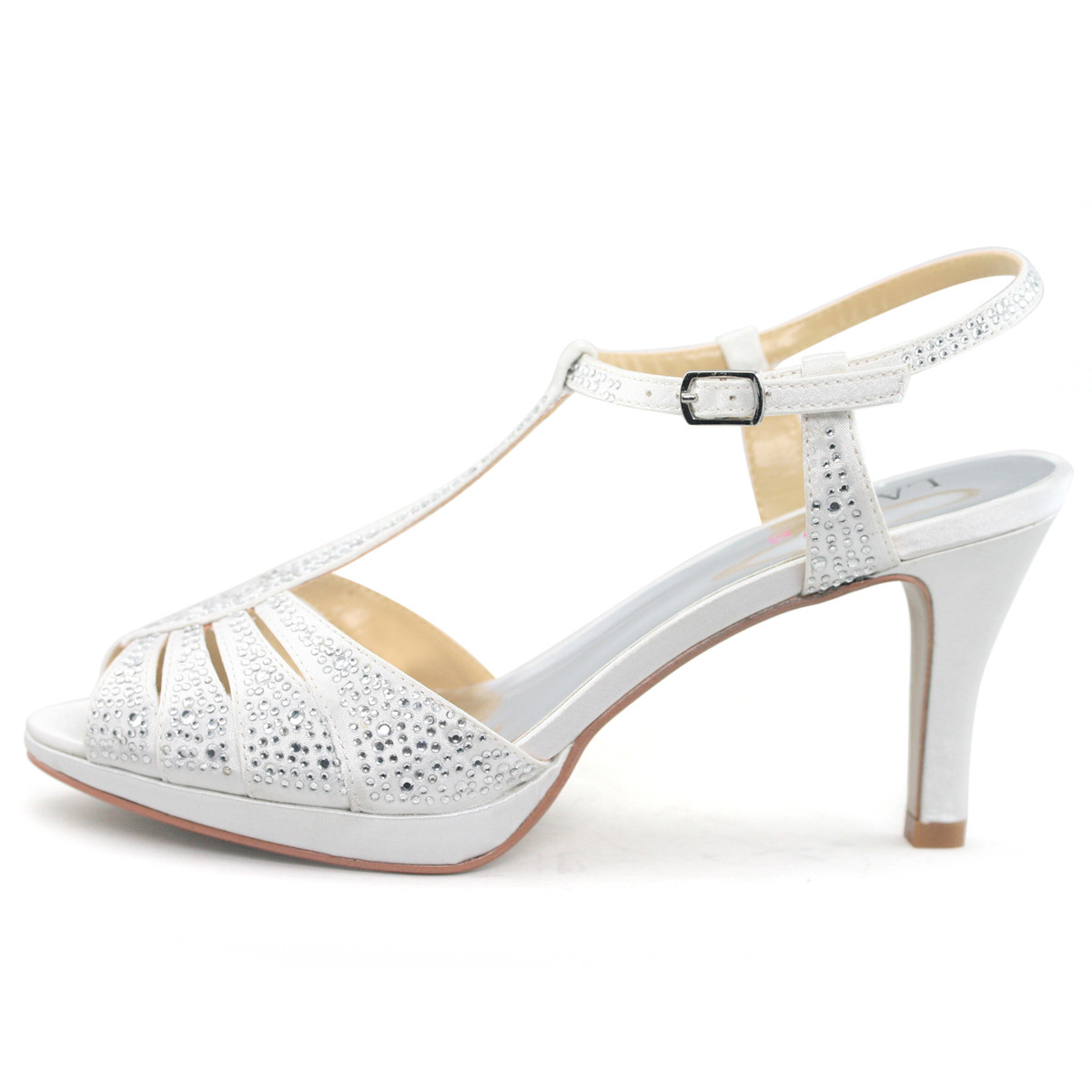 Silver Bridesmaid Shoes Wide Width