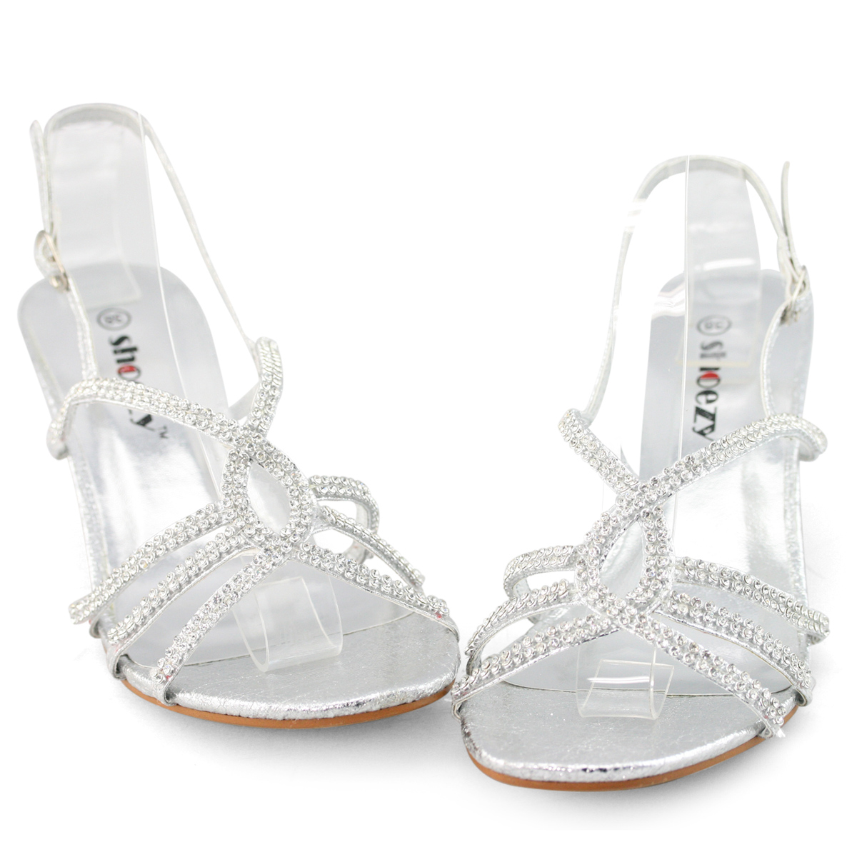 New Womens Silver Low Heels Sandals Shoes Amp Crystal Tote Purse Bag Bridal Dress