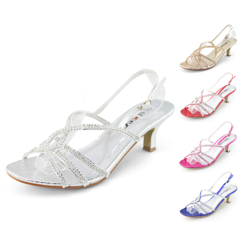 SHOEZY-Womens-Strappy-Diamond-Wedding-Bridesmaid-Dress-Low-Kitten-Heels-Shoes