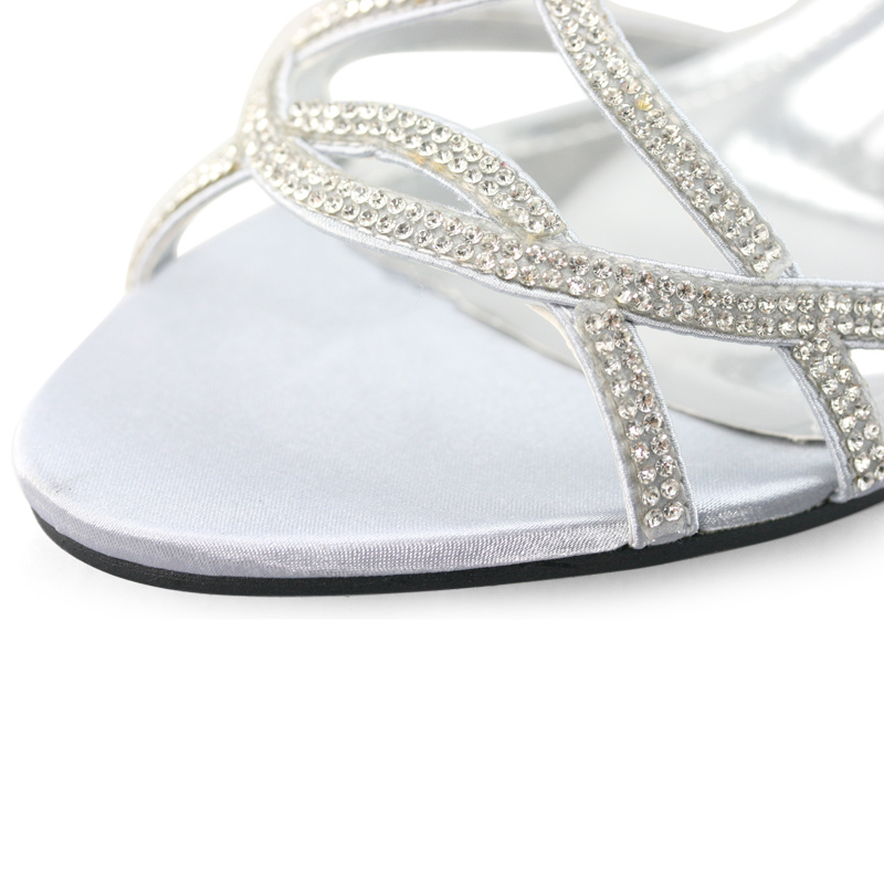 SHOEZY-Womens-Silver-Strappy-Diamond-Wedding-Party-Dress-Low-Kitten-Heels-Shoes