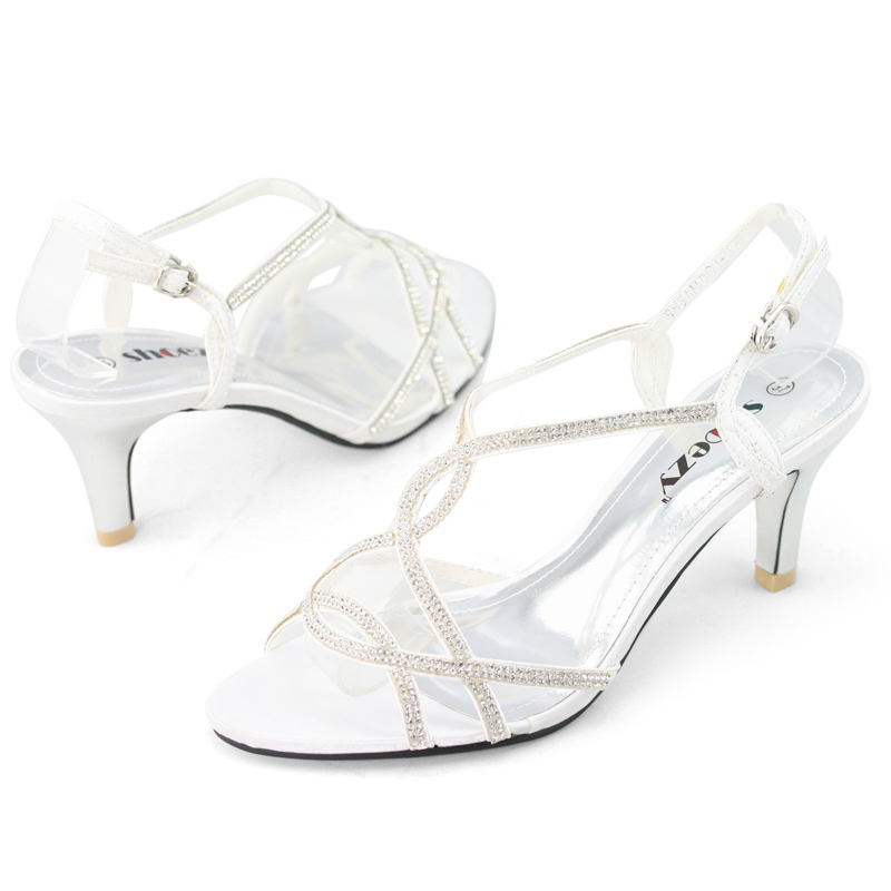 SHOEZY-Womens-Strappy-Diamante-Wedding-Bridesmaid-Prom-Dress-Kitten-Heels-Shoes