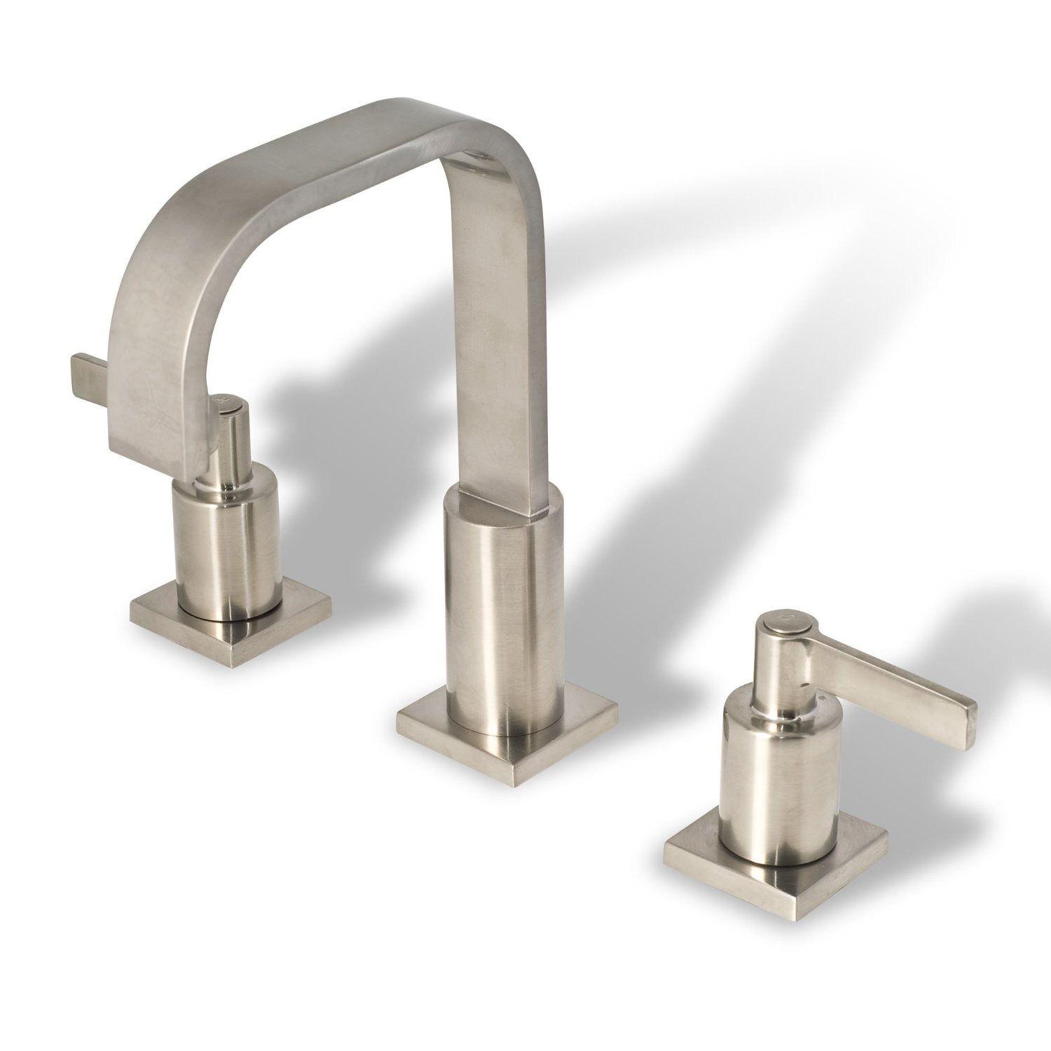 Bathroom Vanity Sink Widespread Lavatory Faucet Brushed Nickel cUPC ...