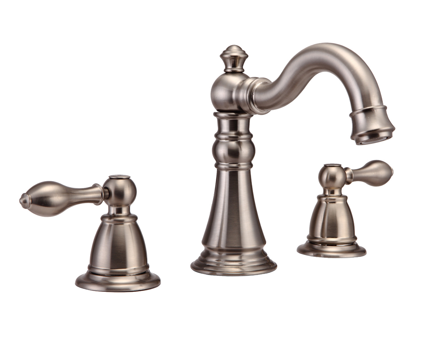 Bathroom Faucets Brushed Nickel Widespread : Bathroom Vanity Sink Widespread Lavatory Faucet Brushed Nickel cUPC ...