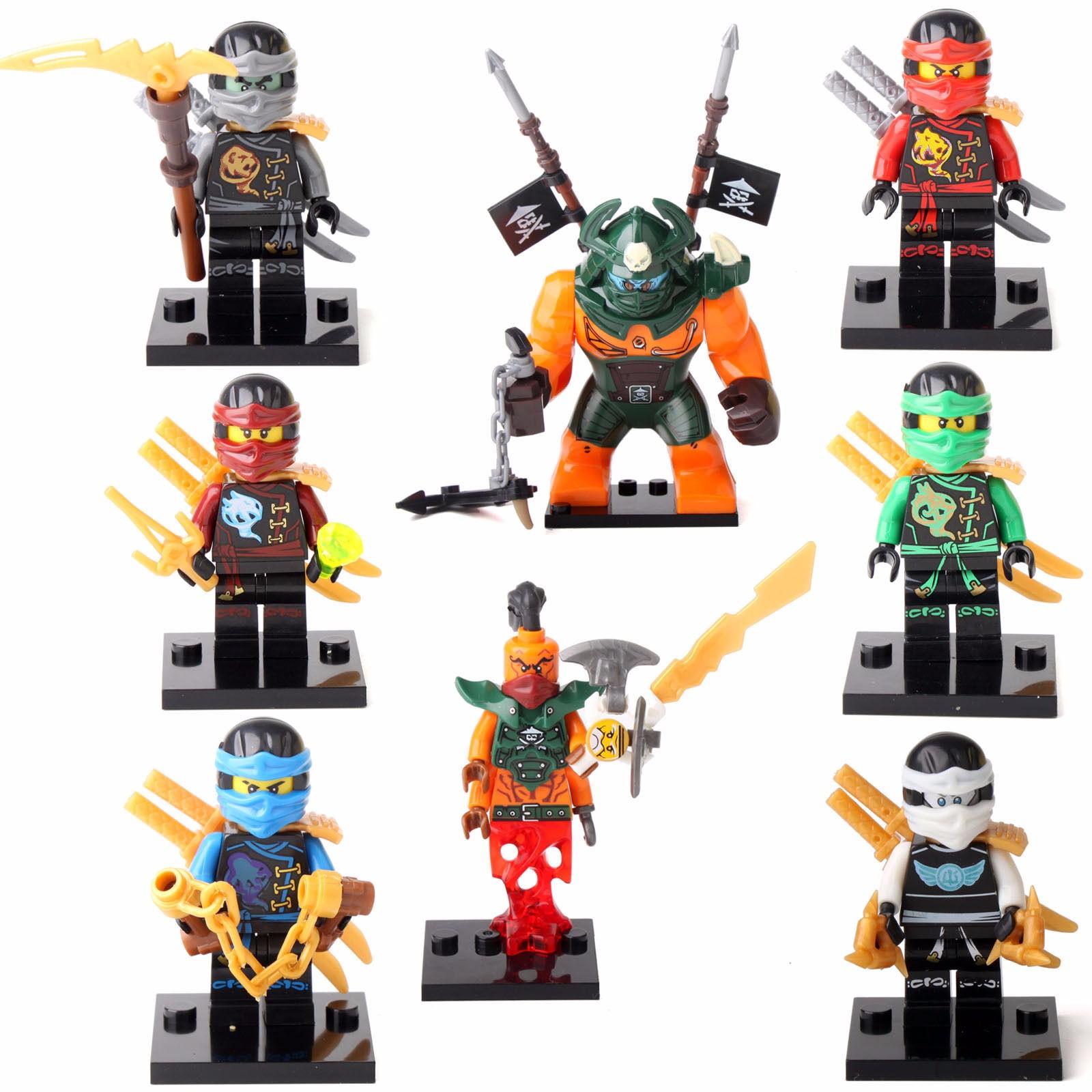 Lego Ninjago Toys : Pcs minifigures ninja ninjago jay cole lloyd dogshank