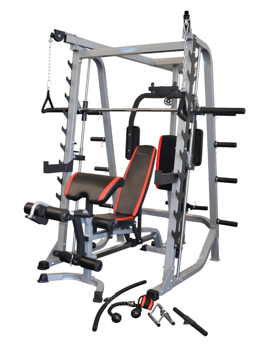 Heavy Duty Smith Machine Squat Rack With Weight Bench