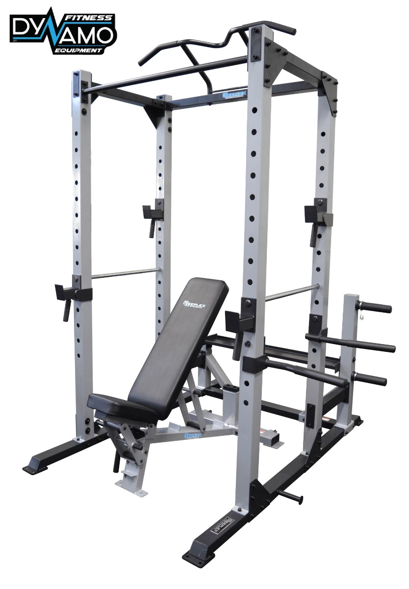 Power Rack Squat Cage Fid Bench Pull Up Bar Heavy Duty Rated To 400kg Home Gym Ebay
